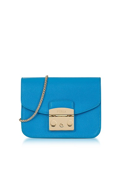 Cerulean Blue Metropolis Mini Crossbody Bag - Furla