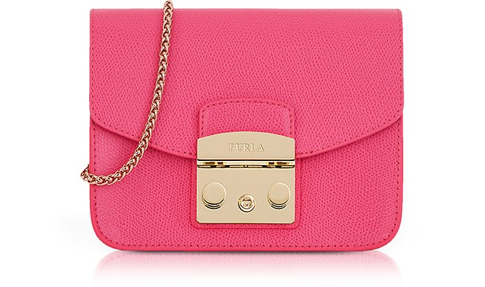 Ortensia Lizard Printed Leather Metropolis Mini Crossbody Bag - Furla