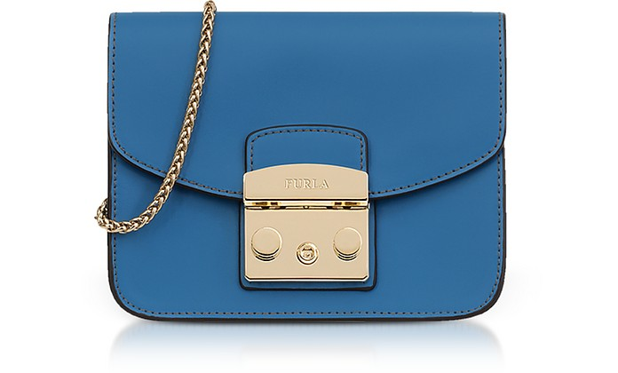Genziana Smooth Leather Metropolis Mini Crossbody Bag - Furla