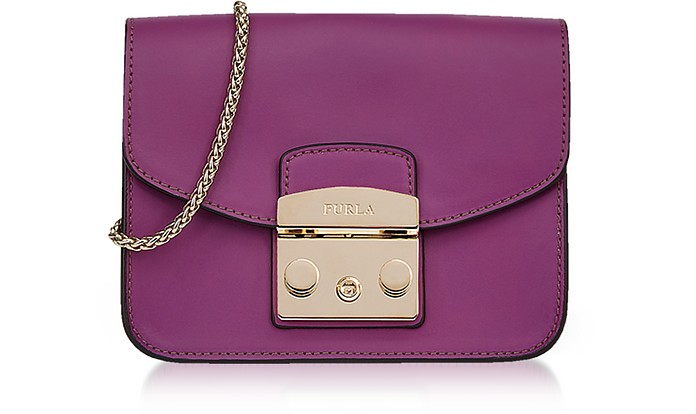 Bouganville Smooth Leather Metropolis Mini Crossbody Bag - Furla