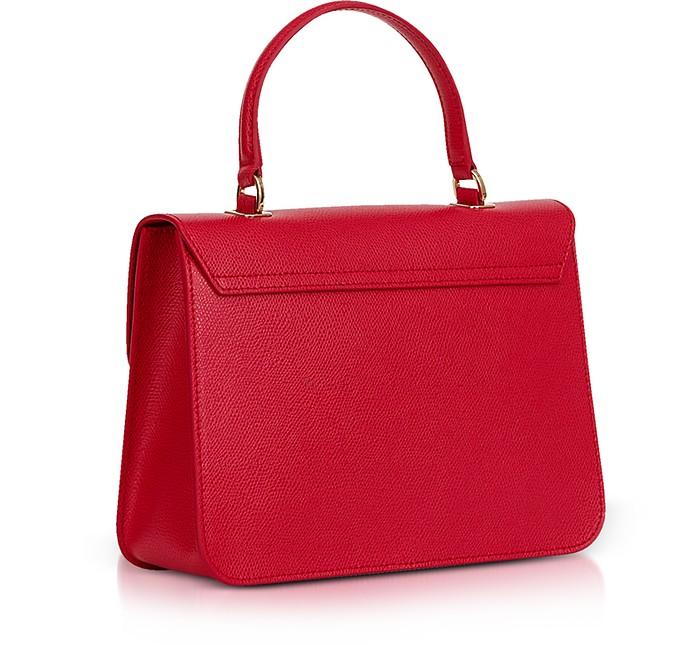 ae98955c3 Furla Ruby Red Lizard Printed Leather Metropolis Small Top-Handle Shoulder  Bag