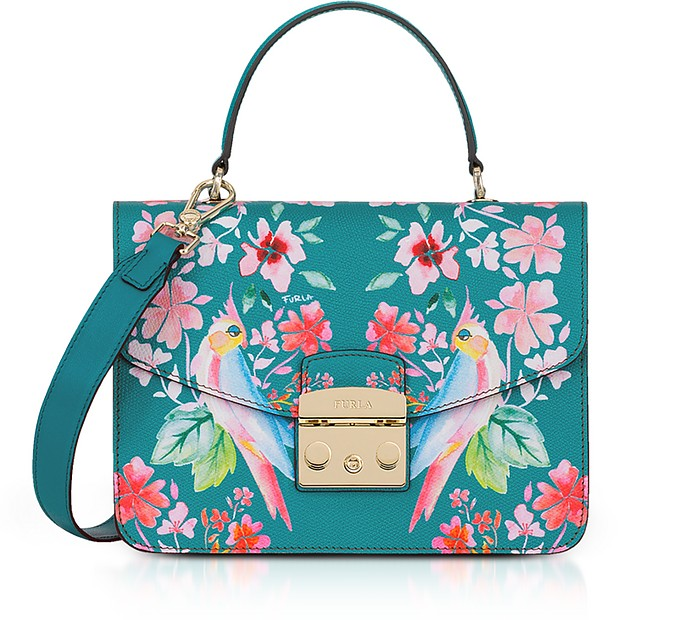 Cocorita Printed Leather Metropolis Small Top-Handle Shoulder Bag - Furla