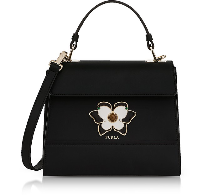 Onyx Mughetto Small Top Handle Satchel Bag - Furla