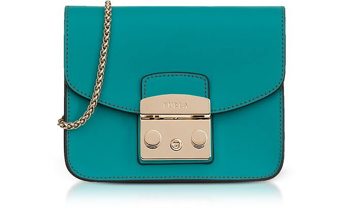 Giada Green Smooth Leather Metropolis Mini Crossbody Bag - Furla