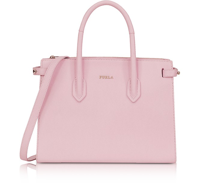 Camelia Leather E/W Pin Small Tote Bag  - Furla