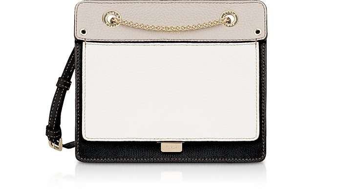 Like Mini Color Block Leather Crossbody Bag w/Chain Strap - Furla