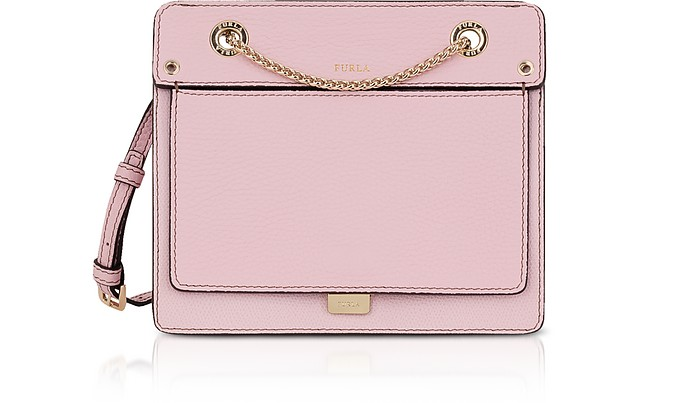 Like Mini Leather Crossbody Bag w/Chain Strap - Furla