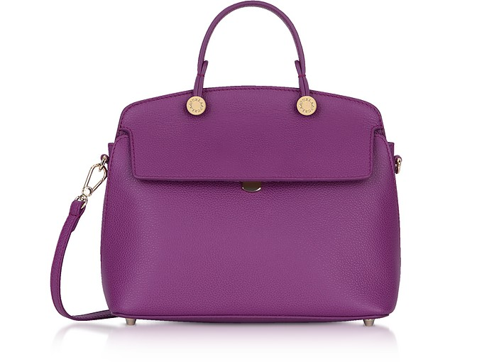Genuine Leather My Piper Small Satchel - Furla