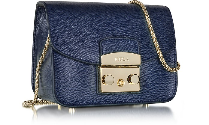 Metropolis Mini Navy Blue Leather Crossbody Bag - Furla. $233.25 $311.00  Actual transaction amount