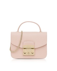 Moonstone Metropolis Mini Top Handle Crossbody Bag - Furla