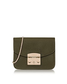 Sage Metropolis Mini Crossbody Bag - Furla