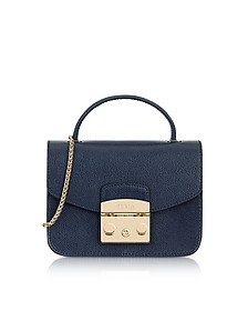 Navy Blue Metropolis Mini Top Handle Crossbody Bag - Furla