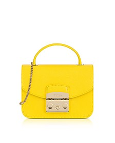 Bright Yellow Metropolis Mini Top Handle Crossbody Bag - Furla