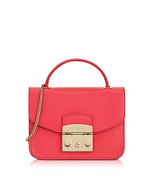 Rose Metropolis Mini Top Handle Crossbody Bag - Furla