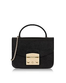 Onyx Metropolis Mini Top Handle Crossbody Bag - Furla