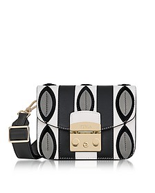 Onyx and Petalo Optical Print Metropolis Mini Crossbody Bag - Furla