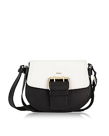 Onyx, Petalo and Argilla Python Leather Hashtag Small Crossbody Bag - Furla