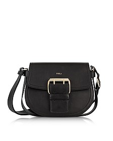Onyx Leather Hashtag Small Crossbody Bag - Furla