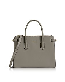 Argilla Leather Pin Small E/W Tote Bag - Furla