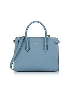 Tempesta Leather Pin Small E/W Tote Bag - Furla