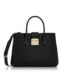 Onyx Metropolis Medium Tote Bag  - Furla