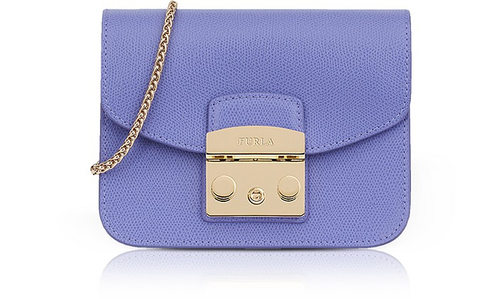109fd223129f Furla Lavender Lizard Printed Leather Metropolis Mini Crossbody Bag ...
