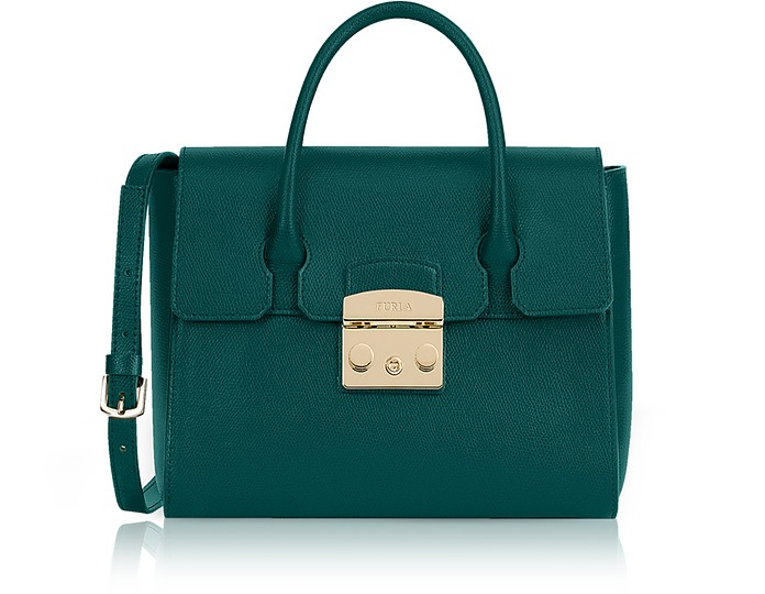 Genuine Leather Metropolis Small Satchel Bag - Furla