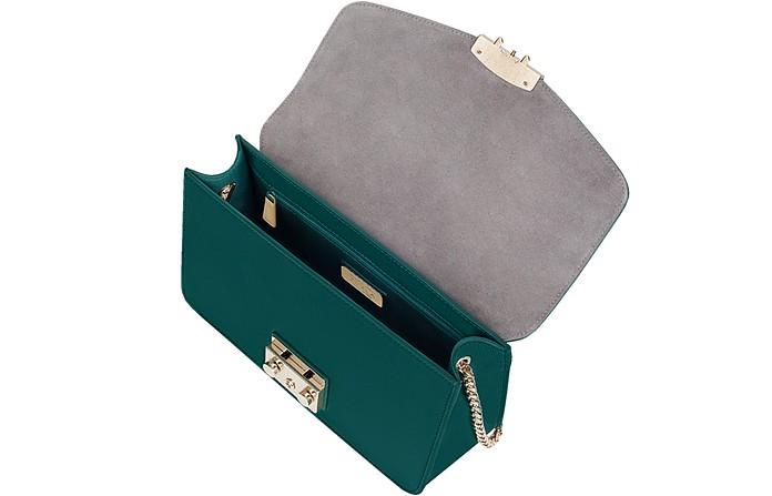 d019db66566c Furla Forest Green Genuine Leather Metropolis Small Shoulder Bag at ...