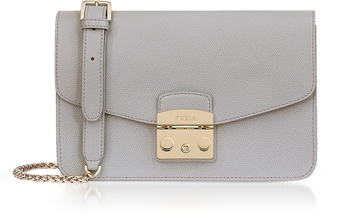 Genuine Leather Metropolis Small Shoulder Bag - Furla