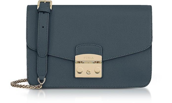 Genuine Leather Metropolis Small Shoulder Bag - Furla