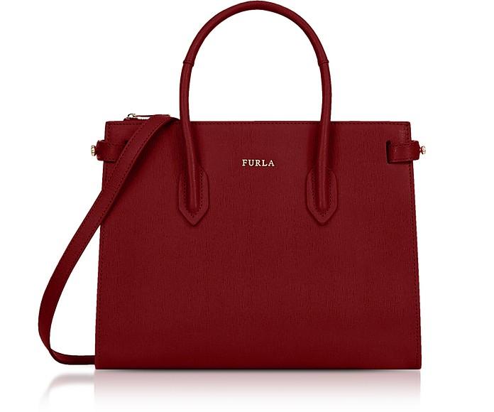 Pin Leather Small Tote Bag - Furla