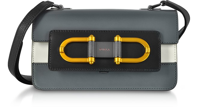 Ardesia Leather Bellaria Mini Crossbody Bag - Furla