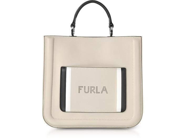Perla Gray Furla Reale N/S Small Tote Bag - Furla