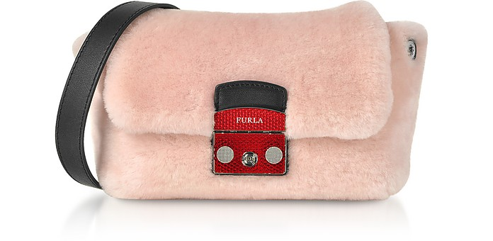 Camelia Pink Metropolis Nuvola Small Crossbody Bag - Furla
