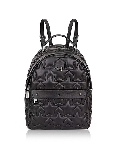 Black Star Quilted Leather Favola Small Backpack - Furla