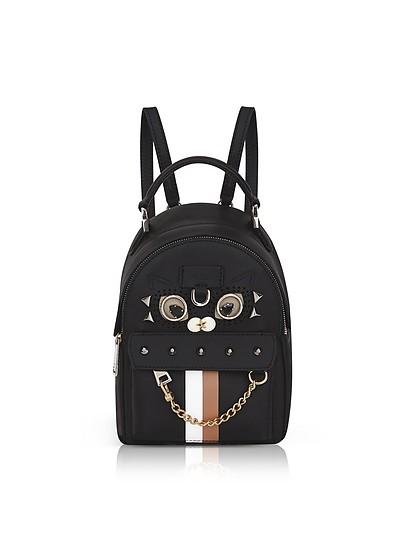 Black Favola Mini Backpack w/Studs - Furla