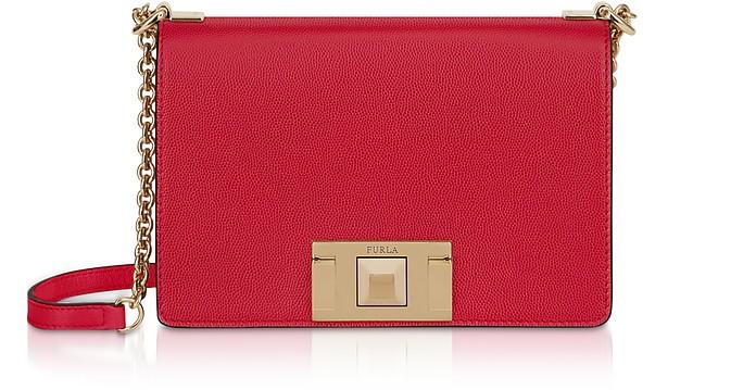 Furla Leather MimÌ Mini Crossbody Bag In Ruby