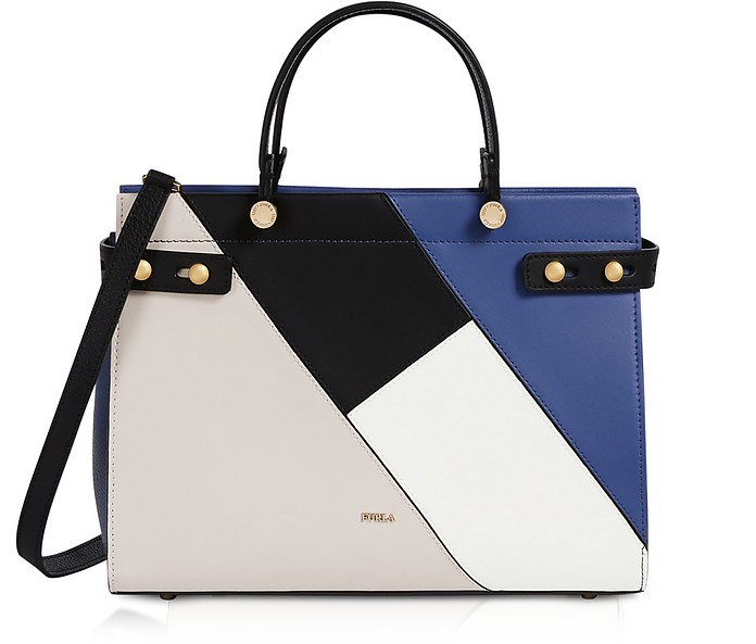 Lady M Color Block Large Tote Bag - Furla