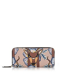 Antilope and Tropicana Gioia XL Zip Around Saffiano Leather Wallet - Furla