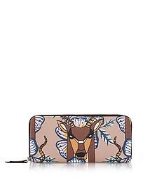 Antilope and Tropicana Gioia XL Brieftasche aus Saffianleder mit Rundumreißverschluss - Furla