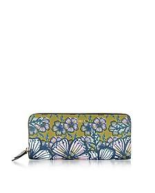 Brughiera and Cocorita Gioia XL Brieftasche aus Saffianleder mit Rundumreißverschluss - Furla