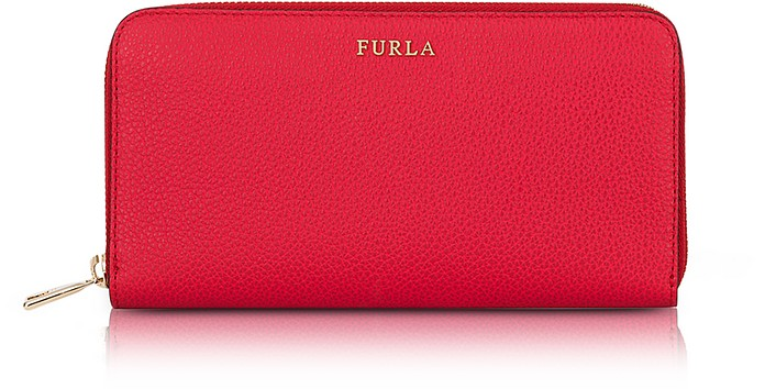 Ruby Babylon XL Zip Around Calf Leather Wallet - Furla