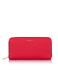 Ruby Babylon XL Zip Around Calf Leather Wallet - Furla