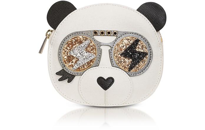 Allegra Petalo Saffiano Leather Coin Holder w/Glitter - Furla