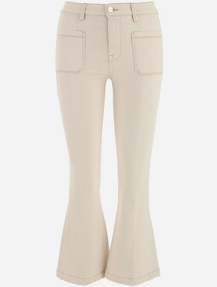 Ecru Cotton Women's Jeans - Frame