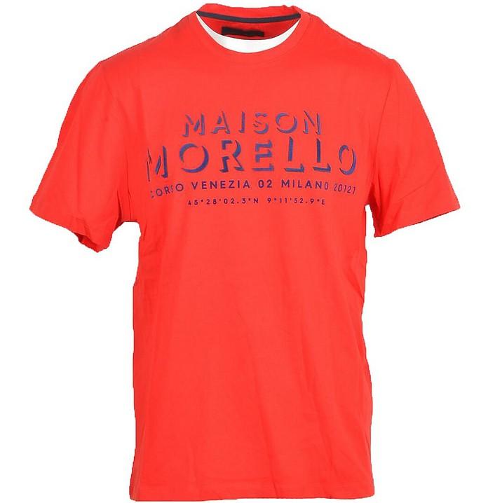 Men's Red T-Shirt - Frankie Morello