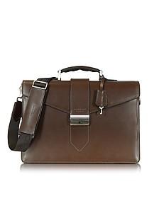 New Class Leather Briefcase w/Shoulder Strap - Giorgio Fedon 1919