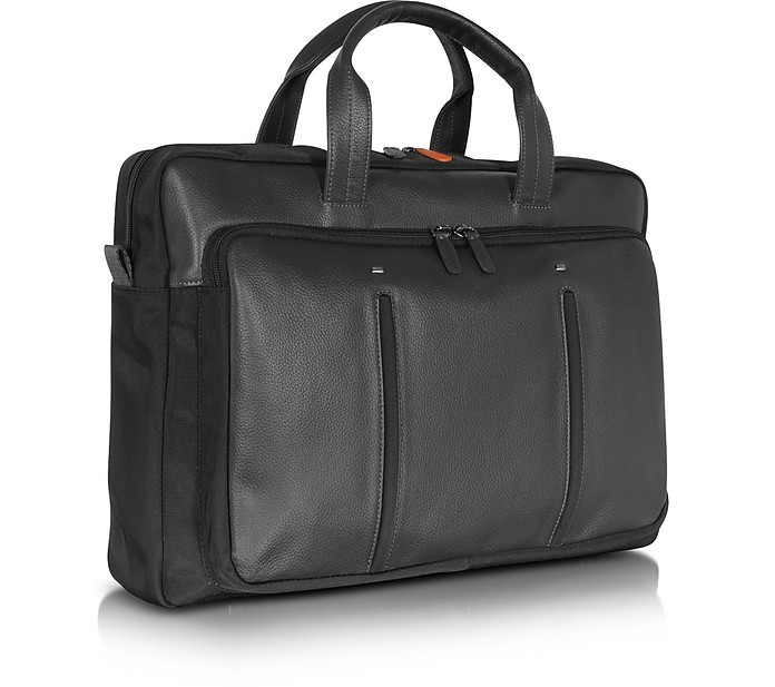 39e632d71aac6e Web File 2 Borsa Porta PC in Pelle e Nylon Nero - Giorgio Fedon 1919.  €279,00 Actual transaction amount