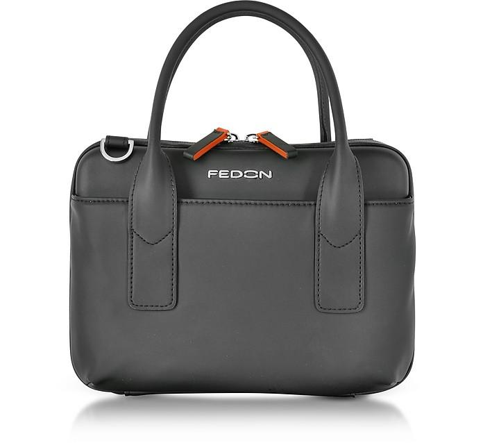 Bubble Mini Bag Borsa con Tracolla con Tasca Mini Tablet Giorgio Fedon 1919 Nero pPFJxt