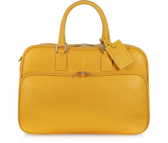 Travel Yellow Leather Double Handle Carry-on - Giorgio Fedon 1919